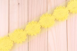 Wholesale Shabby Chic Flowers For Babies - 2016 baby Child Chiffon chic shabby frayed sunflowers for headband, wedding decorated car pendant flower stage applique, bride hair flower