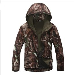 Wholesale Pink Tactical Camo - Lurker Shark Skin Soft Shell Military Tactical Jacket Men Waterproof Windproof Warm Coat Camouflage Hooded Camo Army Clothing