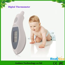 Wholesale Digital Ear Infrared Ir Thermometer - Christmas Promotion Digital Portable Ear IR Body Temperature Infrared Thermometer Baby Child Adult with Retail Box drop shipping KA-2H03