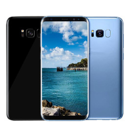 Wholesale 32g Sim Card - 5.8inch Goophone S8 plus Unlocked phone MTK6580 Quad Core Android 6.0 1G 4G Show Octa core Show 4G LTE Smartphone