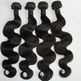 Wholesale Peruvian Hair 4pcs - Body Wave 8-30inch 3 or 4pcs lot Brazilian Human Hair Weave Natural Color Malaysian Indian Peruvian Human Hair Bundles Extension