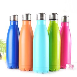 Wholesale Vacuum Water Flask - Amathing Water Bottle Vacuum Flask Cup Sports 304 Stainless Steel Cola Shape Mugs Vacuum Insulation Cups 500ml