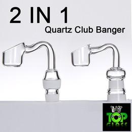 Exclusivo 2 EM 1 Universal Barato Quartz Banger Prego com 14mm 18mm Dual Masculino e Feminino Joint.TWO EM UM de Fornecedores de unha dupla