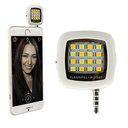 Wholesale 16 Led Flash - Portable Mini 16 LED Flash & Fill-Light Selfie Lens Sync Shutter with Natural Soft Lights for IOS 6.0+ Android 4.0+ WP8.0 16 Phone
