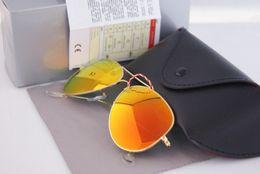 Wholesale Hinged Boxes - 2017 retail brand photochromic lenses men women glasses sunglasses metal frame hinge sunglasses + case boxes certificate