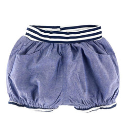 Wholesale Loose Pants For Girls - Baby Boys Shorts Girls Shorts Summer Children Costume For Kids Casual Trousers Striped Elastic Waist Short Pants Girl Boy 2-7yrs