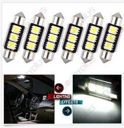 Wholesale Dome Light 6418 - 100PCS 36mm CANBUS Error Free 3 LED 5050 SMD 6418 C5W License Plate Dome Light Bulb wholesale price