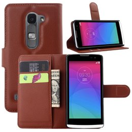 Wholesale Crazy Accessories - Mobile Cover For LG Leon Phone Wallet Accessory Crazy Horse Leather Protective Cover Back Shell For LG Leon Case