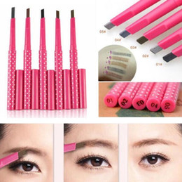 Wholesale Eye Pencil Wholesale Price - Natural Waterproof Longlasting Shadow Eyebrow Pencil Kit Eye Brow Pen Make Up Liner Powder Shaper Cosmetic Makeup Tool Factory price