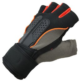 Wholesale sports protective fitness glove - Hot Selling Active Racing Cycling Gloves Half Fingers Gloves Outdoors Sports Fitness Protective Gear Extended Wrist Gloves Unisex