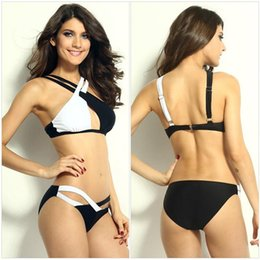 Wholesale Bathing Beauty Swimwear - New 2016 Sexy Women Bikinis Set Criss-Cross Hollow Bathing Swimwear Female Fashion Swimsuit Push Up Beauty Shows Free Shipping