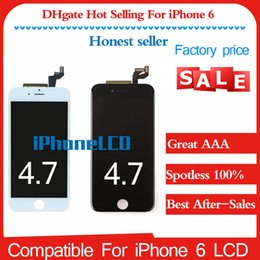 Wholesale Install Assembly - Replacement For iPhone 6 LCD & Touch Screen Digitizer Assembly 4.7 Inch with Earpiece Anti-dust Mesh Installed Quality A+ No Dead Pixel