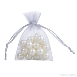 Wholesale Grey Organza Bags - 100 Pcs Gray Organza Jewelry Gift Pouch Bags 7x9cm (2.7X 3.5 inch) Drawstring Bag Organza Gift Candy Bags grey