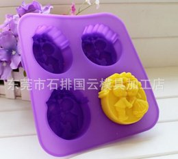 Wholesale Silicone Soap Wedding Mold - Free Shipping--New Arrivals Hot Sell Angel Design wedding handmade soap silicone mold 3 design , maker 90G soap per cube 4 hole
