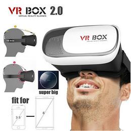 lunettes bleues pas cher Promotion 2016 VR BOX 2.0 II Version 3D Lunettes VR réalité virtuelle Google carton + souris sans fil Bluetooth intelligente / Télécommande Gamepad OTH249