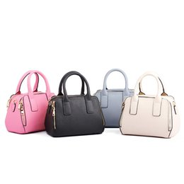 Wholesale Leather Handbag Materials - European and American fashion new leather handbag double zipper design other leather material bag bag one shoulder and his lady bag