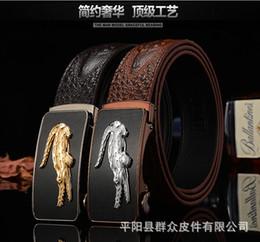 Wholesale Car Buckle Belts - 2016 Luxury Cheetah crocodile Fashion belt H88 Genuine Leather belts Waist Strap Belts Automatic Buckle Black leisure business leather belts