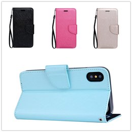 Wholesale Note Flip Cover Colors - For iPhone 8 7 Cases Flip Wallet Leather Case Lichee Magnet Stand Card Money Cover For Samsung Note 8 S8 plus 9 colors