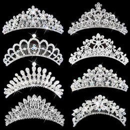 Wholesale Diamonds Headpiece - Bling Crystals Bridal Crowns 2016 Cheap Diamond Jewelry Headband Hair Crown Wedding Accessories Party Tiaras Headpieces Free Shipping