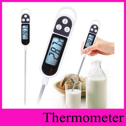 Wholesale Meat Cooking Thermometer - New arrival Digital Food Thermometer BBQ Cooking Meat Hot Water Measure Household Thermometers Probe Kitchen Thermograph Tool Hot Item TP300