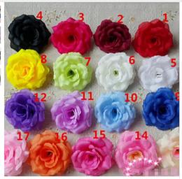 Wholesale Artificial Flower Sets - 500pcs a set Can Mix Color) Wedding decoration Artificial Rose Silk Flower Heads Decoration for Wedding Party Decorative Flowers