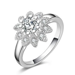 Wholesale Engagement Diamond Ring Price - Platinum filled 925 Sterling Silver Ring and Cubic Zirconia Ring Romantic Wedding Rings Diamond-jewelry Factory price