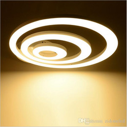Canada Creative Modern Led Ceiling Lights For Living Room Bedroom Remote Control Dimming Deckenleuchten