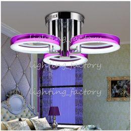 Luces de montaje empotrado led online-Luces empotradas de acrílico contemporáneas del montaje del LED con 3 luces en los anillos Diseño sugerido Sitio apto Comedor, dormitorio, sala de estar Envío libre