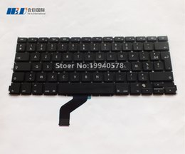 "Wholesale Apple French Keyboard - Free shipping 100% New 2012 FR Keyboard For Macbook Pro Retina 13"" A1425 French Keyboard Wholesales"