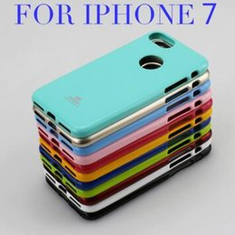 Wholesale Wholesale Pearl Powder - New Mercury Fashion Cases Pearl Powder Paint TPU Soft Case Cover for iPhone 7 Plus iPhone 6S Plus 5s Samsung Galaxy S7 edge S6 Candy Color