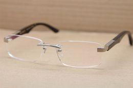 e49f2eedbe307 2018 óculos quadrados sem aro 2017 new rimless mbybach óculos quadrado o  artista preto chifre de
