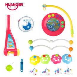 Wholesale Multicolor Bedding - Huanger Diffierent Patr of Baby bed bell toy rotating music hanging baby rattle bracket baby crib mobile holder