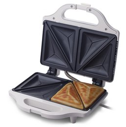 Wholesale Waffle Plates - 2016 New Cookware Household Automatic Sandwich Maker 750w Electric Baking Pan Breakfast Sandwich Machine Kitchen Waffle Plates