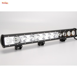 Wholesale 22 Inch Led Light Bars - Wholesale 500PCS 25 Inch Cree 120W LED Grille Bumper Light Bar For Jeep 4*4 SUV ATV Offroad