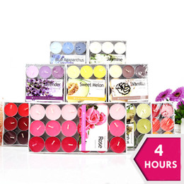 Wholesale Flameless Tea Lights White - 4 Hours Scented Candle Hosley's Set of 36 Tea Light Candles, 9 Fragrance Option Tealights Parties Votive Wedding Spa Product Code:101-1001