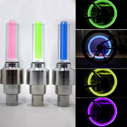 Wholesale Wheels Tires Sale - 2016 Hot Sale New Night LED Cycling Bike Bicycle Wheel Tire Valve Flash Light Lamp free shipping