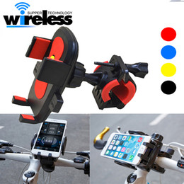 Wholesale bicycle phone holders - Universal 360 Rotation bike bicycle motorcycle phone holder Silicone suction cup base silicone phone Mount holder case for smartphones