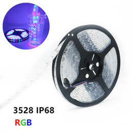 Wholesale Led For Fish Tanks - IP68 Waterproof 3528 LED Strip DC12V 60LED M RGB Underwater for Swimming Pool Fish Tank Bathroom Outdoors