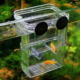 Serbatoi di pesce online-2016 nuovo trasparente serbatoio di pesce acquario incubatrice di allevamento di pesci scatole di cova scatola di isolamento di pesce acrilico multifunzionale
