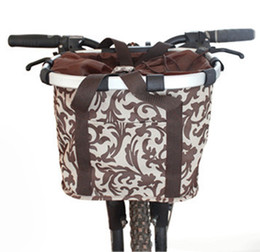 Wholesale Mountain Bike Carrier - High quality aluminum mountain bike basket quick-disassembly bicycle pet carrier bag bicycle basket for dogs and cats