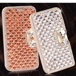 Wholesale Diamond Pearl Hair - Iphone 5 5s Samsung Note 3 Cony Hair Phone 6 6plus Cases Cell Phone Cases Cover Skin with Pearl Diamond Cases with Package