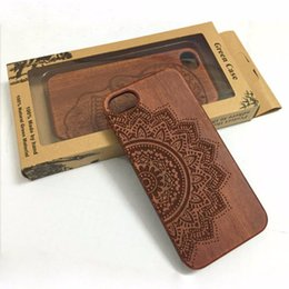 Wholesale Engraved Design - Bamboo Wooden Customize Engraving Design PC TPU Dual Case Shell Back Case For Iphone 5s 6s 6plus 7 7plus Samsung S7 S7 edge