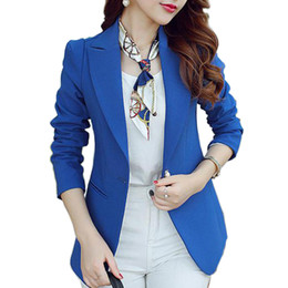 Wholesale Long Suit Blazer For Women - (Green Blue Black) Women Blazers And Jackets Long-sleeved Suit Ms. Blazer Femme Blaser Feminino Casual Blazer For Ladies