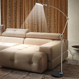 Wholesale Touch Led Eyes Protect - Modern LED Floor Lamps Flexible Long Arm Desk Light Led Eye Protect Floor Reading Lamp 5000-5500K White Light for Office