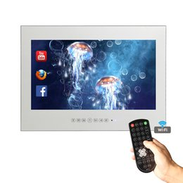 """Wholesale Lcd Led Smart Tv - 15.6"""" Inch Magic Mirror For In Bathroom Wall LED Android Smart Shower Frameless Waterproof TV"""