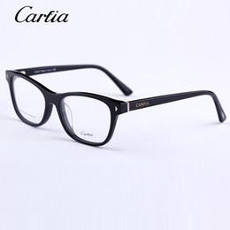 Canada carfia 5121 monture en acétate à monture optique hommes femmes lunettes 50mm noir et tortue Lunettes de vue 2 couleurs pour lentille uniex myopia Offre