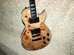 Canada En gros guitares Custom En Bois Guitare Électrique One Piece Neck Ebony touche guitare Livraison Gratuite Offre