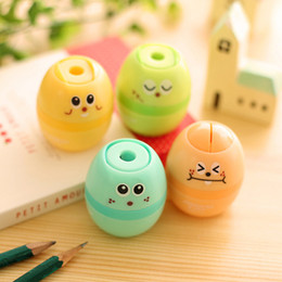 Wholesale Blue Sharpener - Wholesale-1 pcs Cute Kawaii Professional Pencil Sharpener Manual Stationary School Supplies Prizes For Students School Office Supply