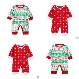Wholesale Sleepsuit Romper - Clothes Romper Boy Girl Newborn Elk Children Baby Infant Baby Cotton Christmas Romper Jumpsuit Baby Sleepsuit Outfits DHL Free Shipping