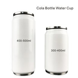 Wholesale Water Bottle Lid Straw - 10-17oz Double 304 Stainless Steel Cola Bottle Water Cup Comes with Drinking Straws can be adjusted 90 °.